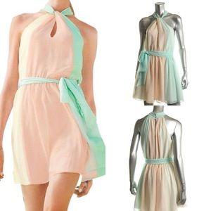 NEW Victoria's Secret Chiffon Mini Halter Dress XL